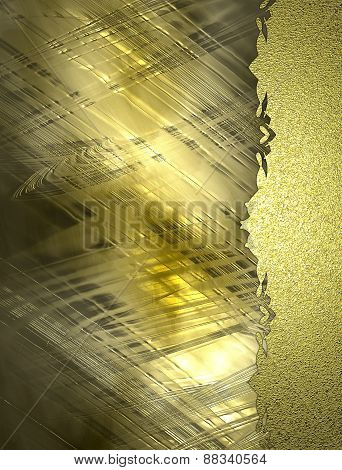 Abstract Gold Background With Gold Edge. Design Template