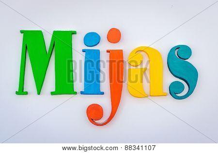 Colored Word Mijas