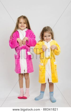 Two Girls In Gowns Depict Bunnies