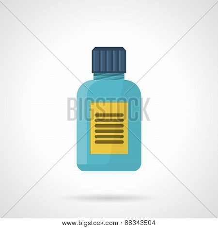 Supplements jar flat vector icon