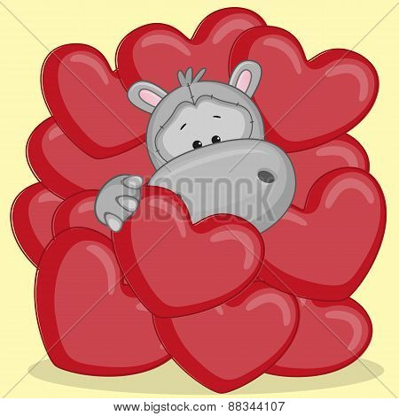 Hippo In Hearts