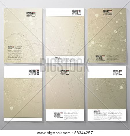 Technical retro background. Brochure, flyer or booklet for business, template vector