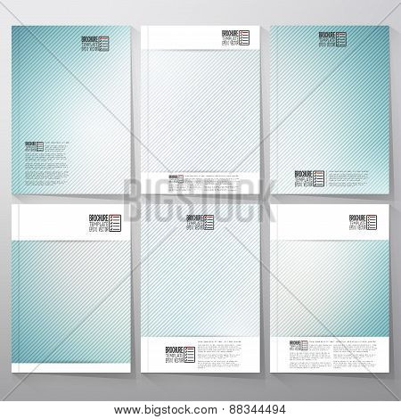 Striped blue background. Brochure, flyer or booklet for business, template vector