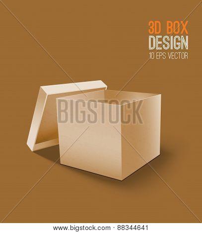 3D Cardboard box icon