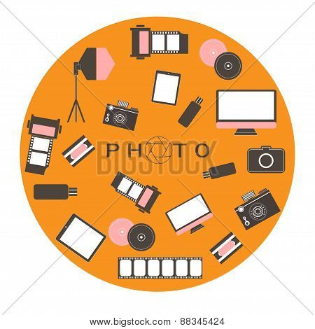 Photo Studio Logo. Hipster Style.