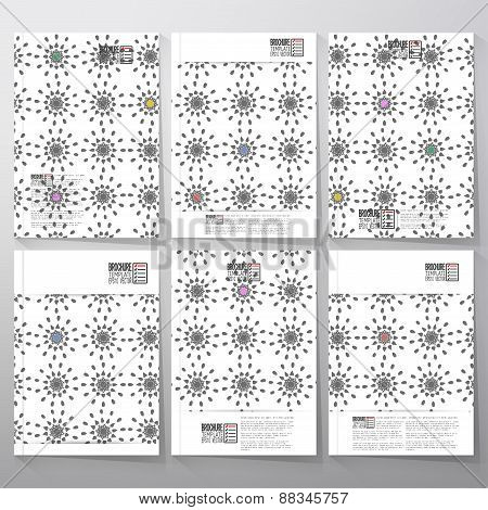 Abstract floral modern stylish geometric background. Simple abstract monochrome texture. Brochure, f