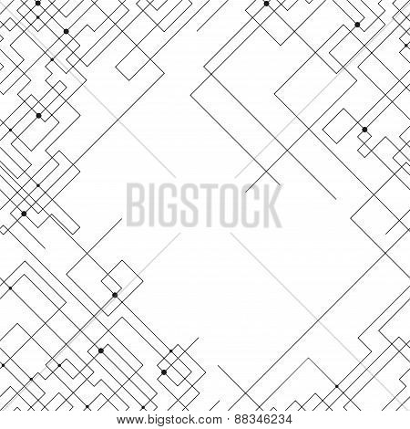 Seamless pattern with connected lines and dots. Repeating modern stylish geometric background. Simpl