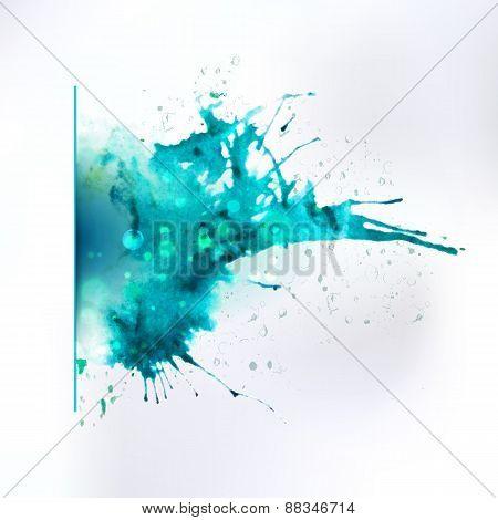 Abstract Ink Left Oriented Splash Element