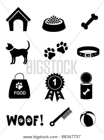 Dog Icon Silhouettes