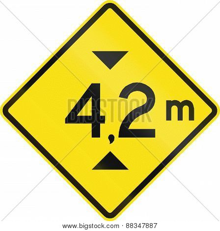 Height Restriction Ahead In Chile