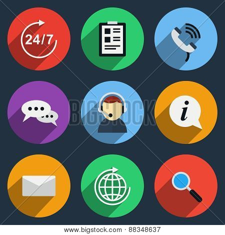 Vector call center icons