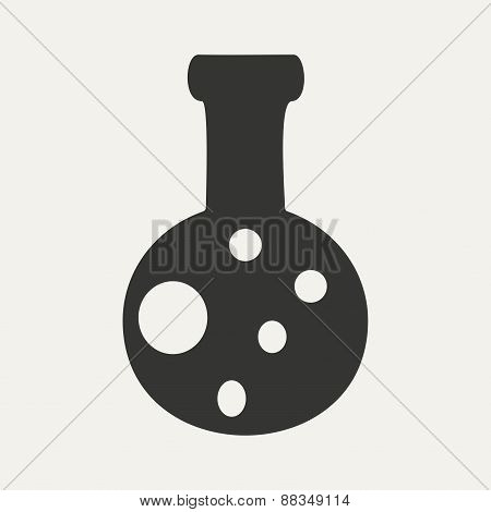 Flat in black and white mobile application flask
