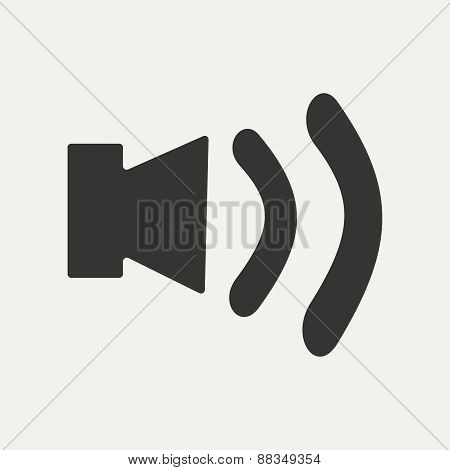 Flat in black and white mobile application sound