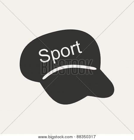 Flat in black and white mobile application cap
