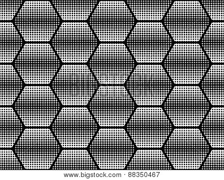 Design Seamless Monochrome Dots Background