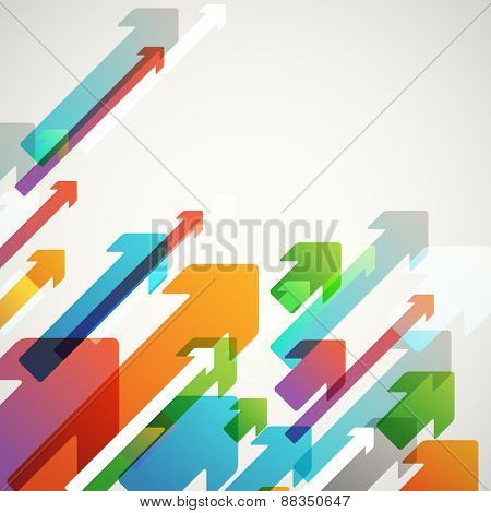 Abstract vector background of different diagonal color arrows. Design concept