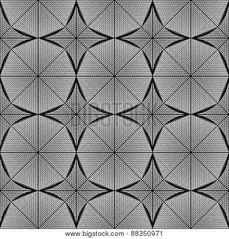 Design Seamless Monochrome Octagon Pattern