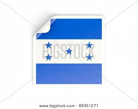 Square Sticker With Flag Of Honduras