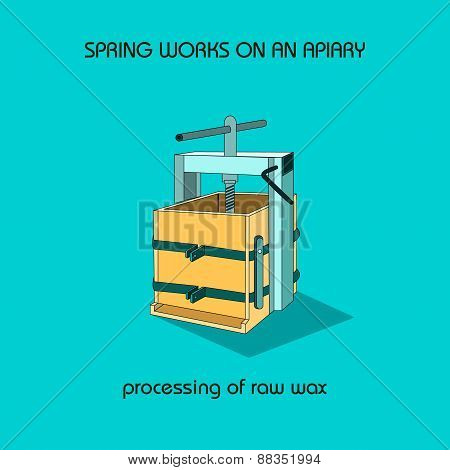 Processing Of Raw Wax (spring Work)