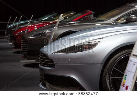 Row Of Aston Martins