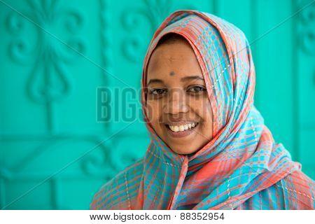African Muslim girl
