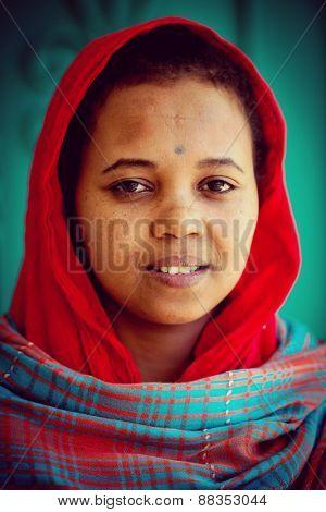 African Arabian girl