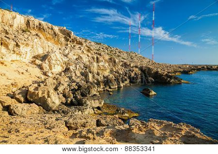 Rocky Coastline At Cape Greco