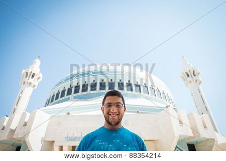 Arabic mosque in Amman Jordan