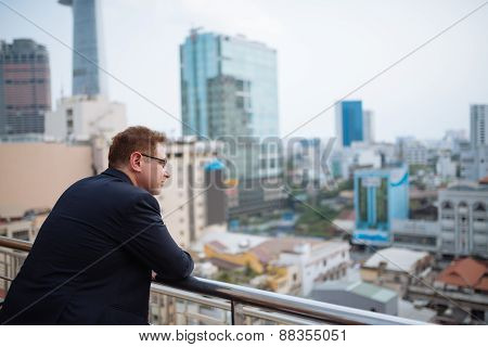 Enjoying urban view