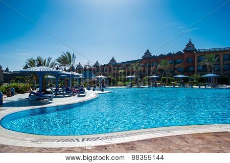 Territory Of The Hotel Dreams Beach Resort With Big Pool