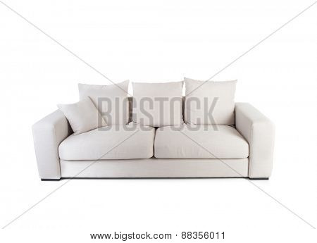 White sofa isolated on white