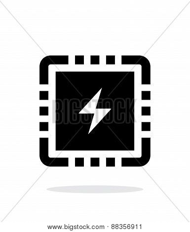 CPU Power simple icon on white background.