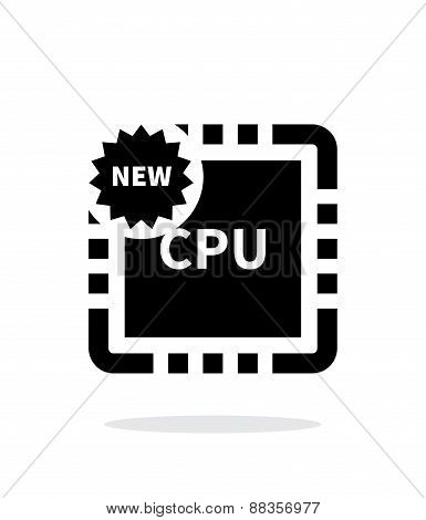 New CPU simple icon on white background.