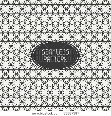 Geometric monochrome lattice seamless arabic pattern. Islamic oriental style. Wrapping paper. Scrapb