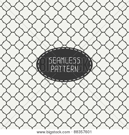 Geometric monochrome lattice seamless arabic pattern. Islamic oriental style. Wrapping paper. Scrapb