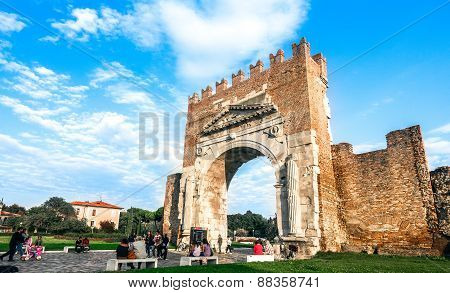 Rimini Ancient Arch Of Augustus