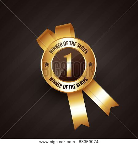 winner number one vector badge rosette label design