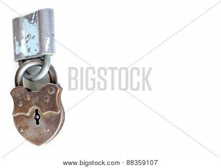 Lock Keys Vintage Open Metal Isolated