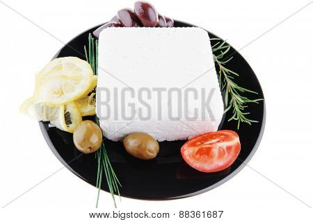 image of rare olives and feta cube