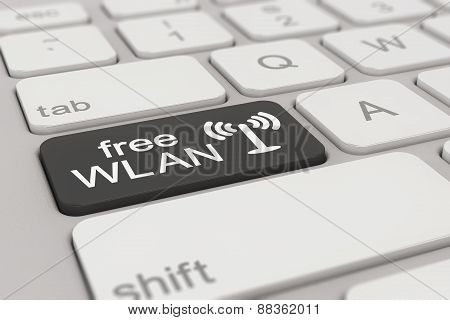 Keyboard - Free Wlan - Black