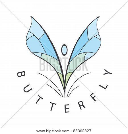 Vector Logo Blue Wings Develop