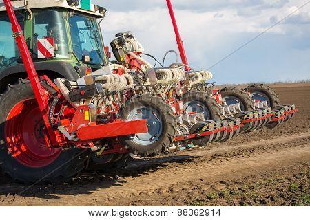 Tractor on field on job