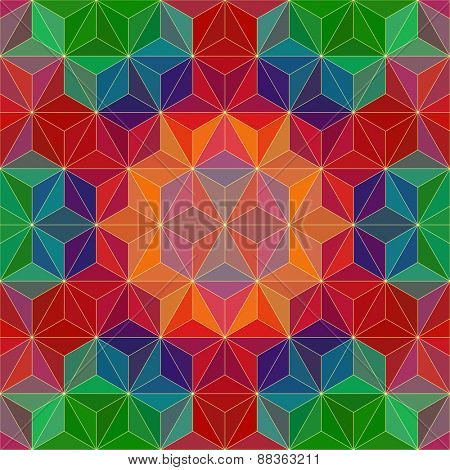 Colorful Triangle Patter. Vector Background