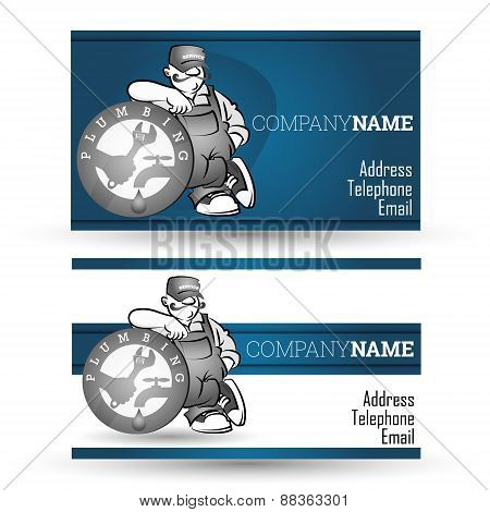 Business card for sanitary technician