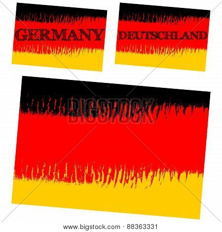 abstract flag of Germany