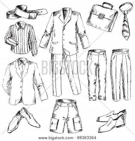 Set of business clothes for men.