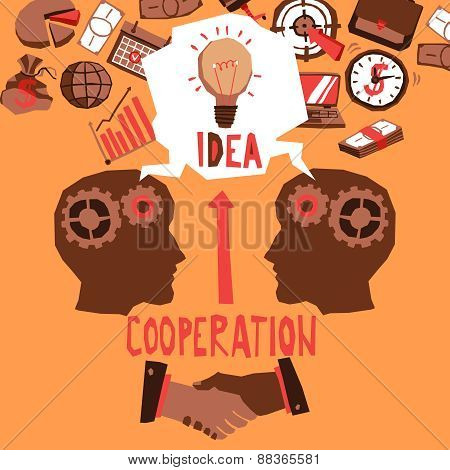 Business Cooperation Illustration