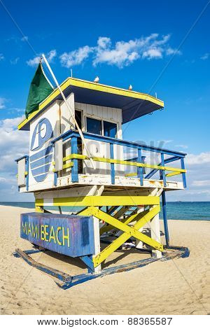Lifeguard Tower, Miami Beach, Florida