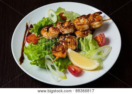 Appetizing grilled shashlik