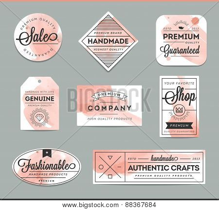 Set Of Beautiful Artistic Labels